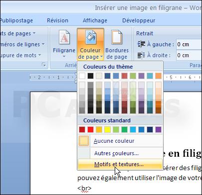 Insérer Une Image En Filigrane Word 2007