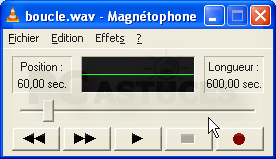 magnétophone windows xp
