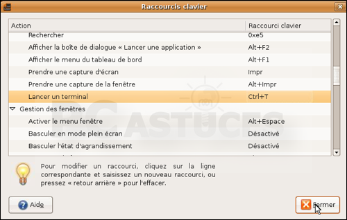 pc astuces assigner un raccourci clavier au terminal linux ubuntu. Black Bedroom Furniture Sets. Home Design Ideas