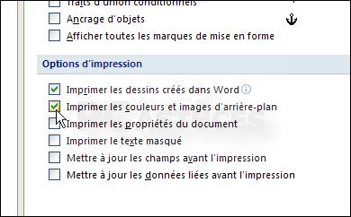 Imprimer L Arrière Plan De Vos Documents Word