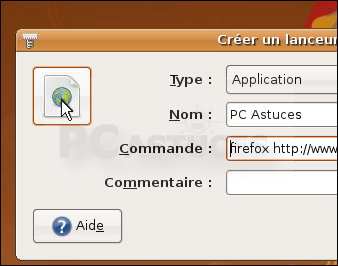 Creer Un Raccourci Vers Une Page Web Linux Ubuntu