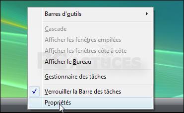Masquer automatiquement la barre des tâches windows vista
