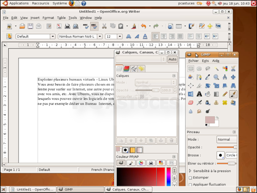 pc astuces exploiter plusieurs bureaux virtuels linux ubuntu. Black Bedroom Furniture Sets. Home Design Ideas