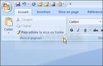 Afficher Presse Papier exploiter le presse papiers office - word 2007