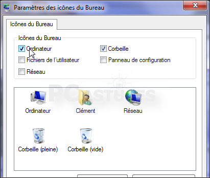 Ajouter ou retirer des ic nes syst me du bureau windows 7 for Windows 7 bureau vide