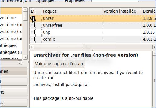 Décompresser les fichiers RAR - Linux Ubuntu