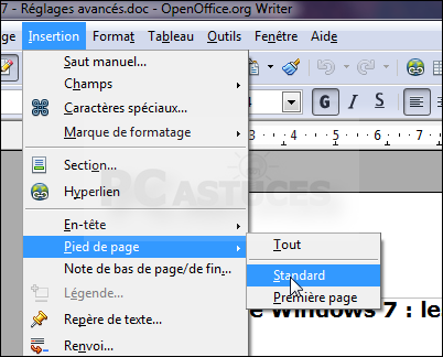 Num roter et compter les pages d 39 un document openoffice - Comment faire un diapo avec open office ...