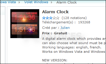 telecharger horloge pc windows 7