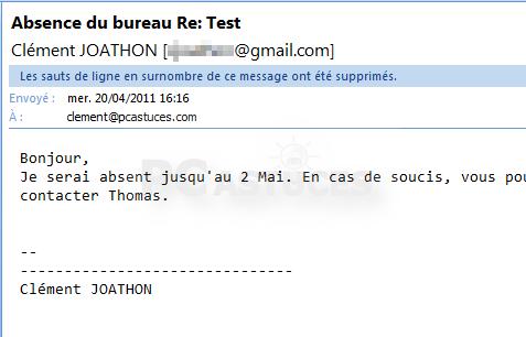 Activer Le Repondeur Automatique Dans Gmail Tous Les Navigateurs