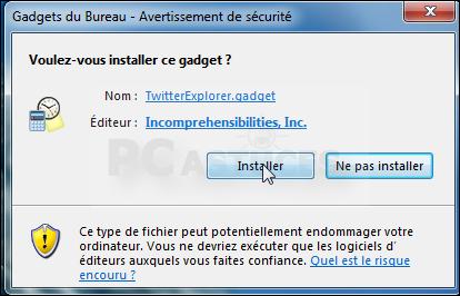 Suivre twitter sur son bureau windows 7 - Telecharger gadget meteo bureau gratuit ...