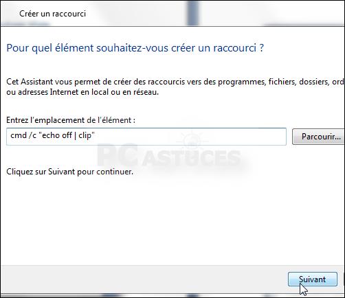 Creer Un Raccourci Pour Vider Le Presse Papier Windows 7 Et