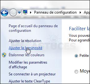 Ajuster la luminosit de l 39 cran windows 7 - Comment mettre la corbeille sur le bureau ...