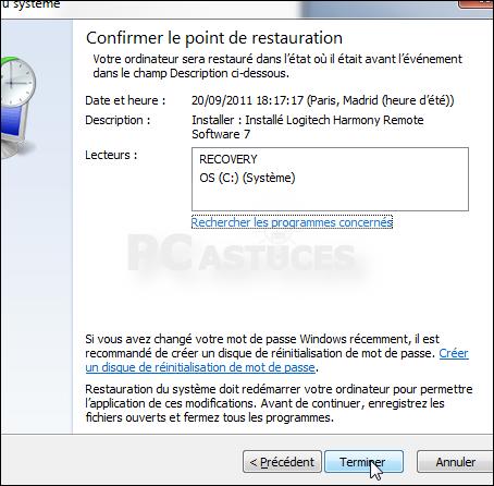 Revenir A Une Date Anterieure Windows 7
