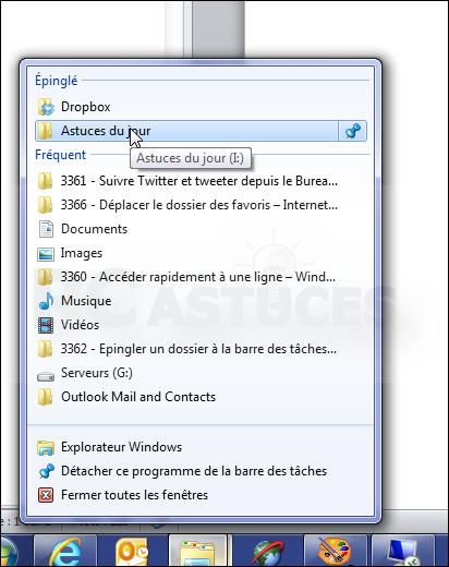 Pc astuces epingler un dossier la barre des t ches - Open office en francais pour windows 7 ...