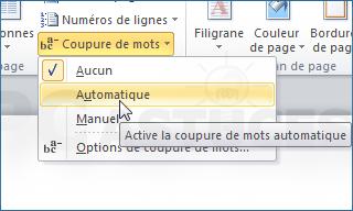 Couper automatiquement les mots en fin de ligne word - Couper une image sur word ...