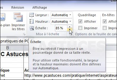 Afficher Plus De Donnees Sur Une Page Excel 2010