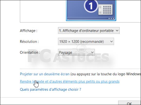 Retrouver Une Taille De Texte Normale Windows 8