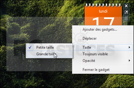 Pc astuces afficher un calendrier complet sur le bureau for Windows 7 bureau vide