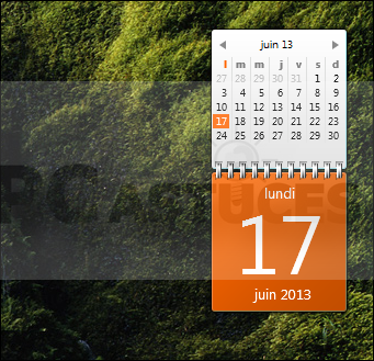 Afficher un calendrier complet sur le bureau windows 7 - Afficher ordinateur sur bureau windows 8 ...