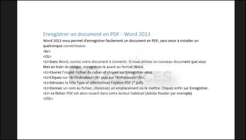 pc astuces - enregistrer un document en pdf