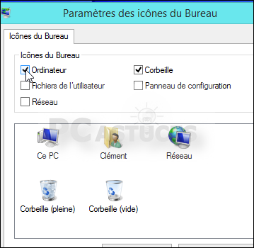Retrouver l 39 ic ne ordinateur sur le bureau windows 8 - Afficher ordinateur sur bureau windows 8 ...