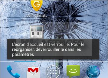 Verrouiller l écran d accueil android
