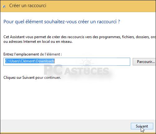 Ajouter un raccourci dans la fen tre ordinateur windows 8 for Raccourci pour fermer une fenetre
