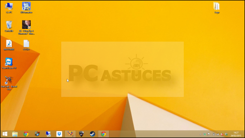 Pc astuces afficher rapidement le bureau windows 8 1 for Bureau windows 8