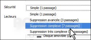 Effacer un disque dur externe