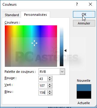 pc astuces utiliser une couleur partir de son code rvb word. Black Bedroom Furniture Sets. Home Design Ideas