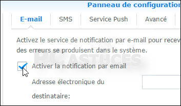 Recevoir les notifications de son NAS par email - NAS Synology