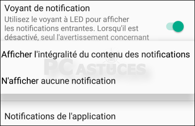 pc astuces ne plus afficher les notifications sur l 39 cran de verrouillage android. Black Bedroom Furniture Sets. Home Design Ideas
