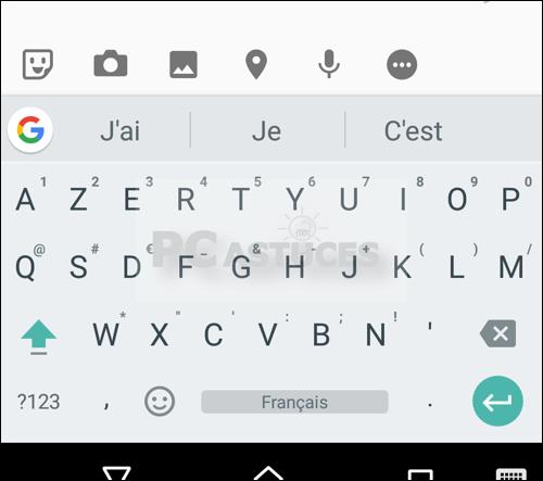 Modifier la taille des touches du clavier virtuel Android