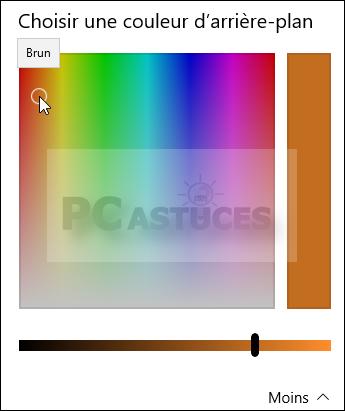 pc astuces choisir une couleur de remplissage pour un fond d 39 cran centr windows 10. Black Bedroom Furniture Sets. Home Design Ideas