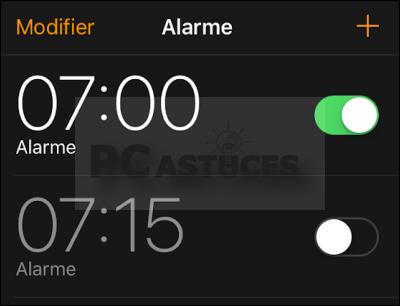 Quand fonctionne l'alarme ? iOS