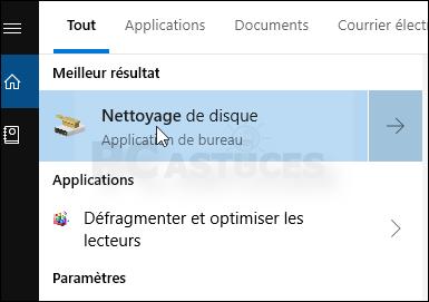 Nettoyer les fichiers temporaires - Windows 10 5568-2