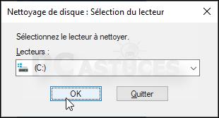 Nettoyer les fichiers temporaires - Windows 10 5568-3