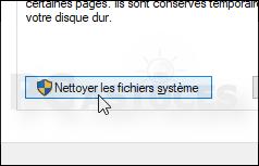Nettoyer les fichiers temporaires - Windows 10 5568-4