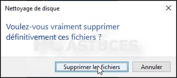 Nettoyer les fichiers temporaires - Windows 10 5568-6