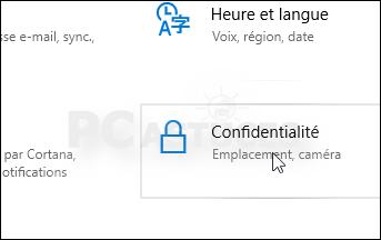 Limiter la collecte des données - Windows 10 5579-2