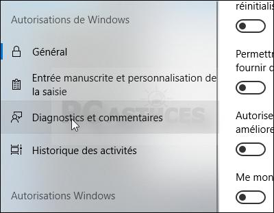 Limiter la collecte des données - Windows 10 5579-3
