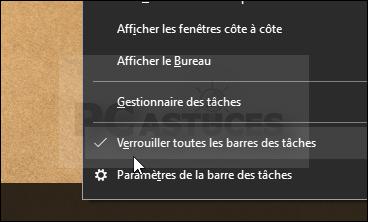 Déplacer la barre des tâches - Windows 10 5583-1