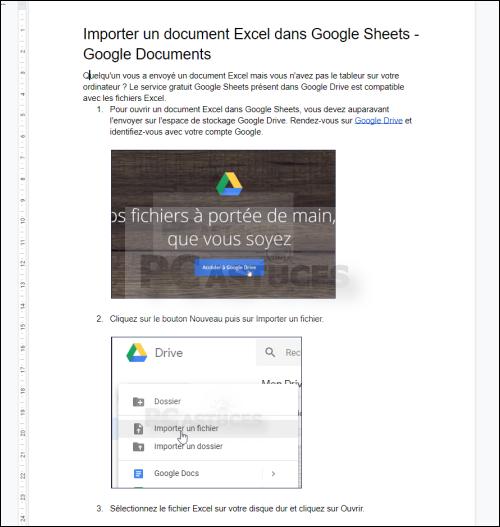 Supprimer une mise en forme - Google Docs 5593-3