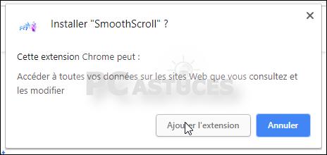 Améliorer le défilement des pages Web - Chrome 5596-3