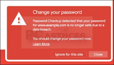 Détecter les noms d'utilisateur et les mots de passe non sécurisés - Chrome 5602-5