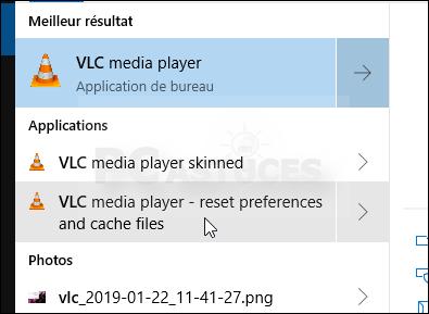 Réinitialiser le lecteur multimédia - VLC 5617-2
