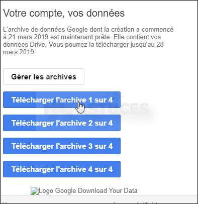 Télécharger toutes les données de son compte Google Drive d'un coup - Tous les navigateurs Web 5639-11