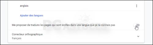 Désactiver la traduction automatique - Google Chrome 5652-4