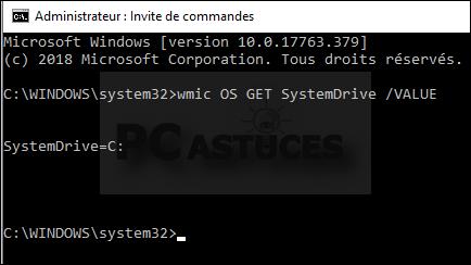 Identifier le lecteur où est installé Windows - Windows 10 5662-3