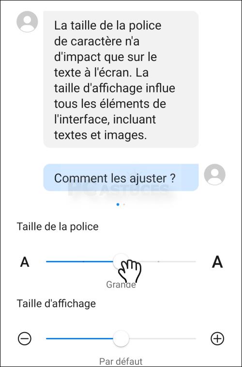 Agrandir la taille du texte dans Facebook Messenger - Android 6157-4
